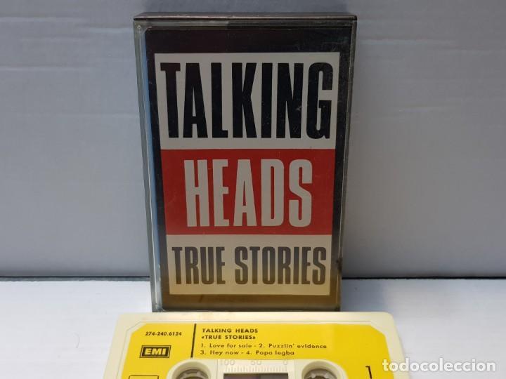CASSETTE-TALKING HEADS-TRUE STORIES EN FUNDA ORIGINAL AÑO 1986 (Música - Casetes)
