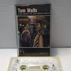 Casetes antiguos: CASSETTE-TOM WAITS-THE HEART OF SATURDAY NIGHT EN FUNDA ORIGINAL AÑO 1984. Lote 190597906