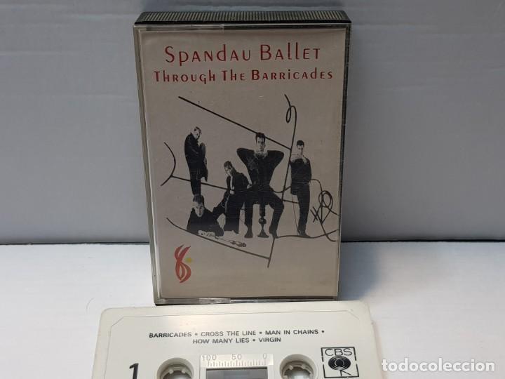 CASSETTE-SPANDAU BALLET-THROUGH THE BARRICADES EN FUNDA ORIGINAL AÑO 1986 (Música - Casetes)