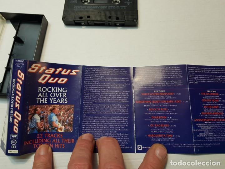 Casetes antiguos: Cassette-STATUS QUO-ROCKING ALL OVER THE YEARS en funda original año 1991 - Foto 2 - 190600218