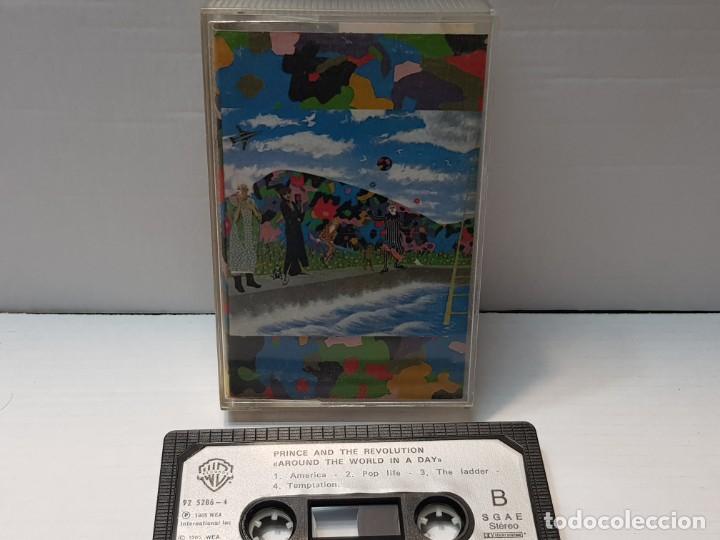 CASSETTE-PRINCE AND REVOLUTION-ARROUND THE WORLD IN A DAY EN FUNDA ORIGINAL AÑO 1985 (Música - Casetes)
