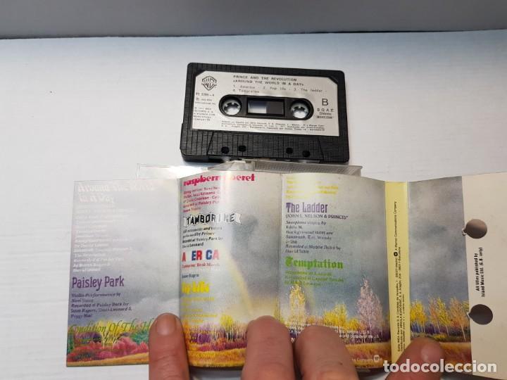 Casetes antiguos: Cassette-PRINCE AND REVOLUTION-ARROUND THE WORLD IN A DAY en funda original año 1985 - Foto 3 - 190600785