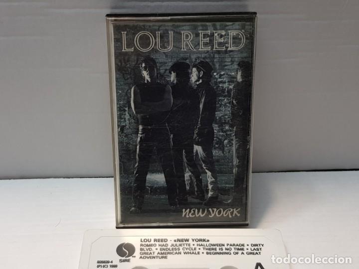 CASSETTE-LOU REED-NEW YORK EN FUNDA ORIGINAL AÑO 1988 (Música - Casetes)