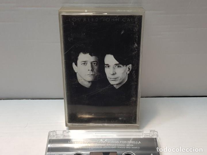 CASSETTE-LOU REED/JOHN CALE-SONGS FOR DRELLA EN FUNDA ORIGINAL AÑO 1990 (Música - Casetes)
