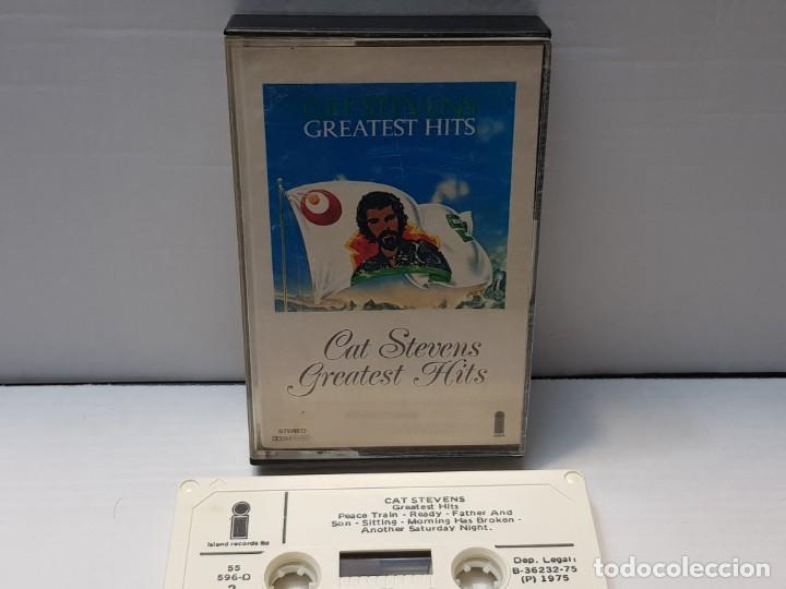 CASSETTE-CAT STEVENS-GREATEST HITS EN FUNDA ORIGINAL AÑO 1975 (Música - Casetes)