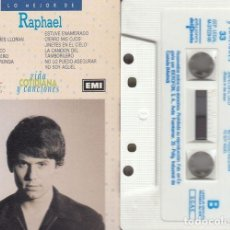 Cassetes antigas: RAPHAEL - LO MEJOR DE RAPHAEL - CINTA DE CASETE EDICION ESPAÑOLA. Lote 191352357