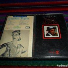 Casetes antiguos: LO MEJOR DE FRANK SINATRA HISPAVOX 1977. REGALO LO MEJOR DE CONCHITA PIQUER EMI 1990.. Lote 191590342