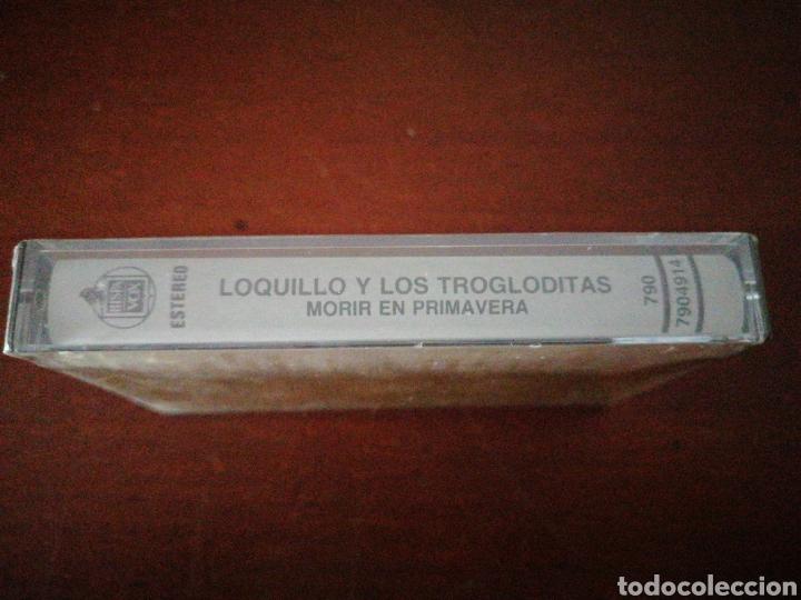 Casetes antiguos: LOQUILLO Y TROGLODITAS MORIR EN PRIMAVERA HISPAVOX PRECINTADO K7 CASSETTE CASETE CINTA - Foto 3 - 202344320
