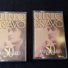 Casetes antiguos: NINO BRAVO...50 ANIVERSARIO 2 X CASSETE ..1995. Lote 190177052