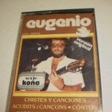 Casetes antiguos: CINTA, CASETE, CASSETTE. EUGENIO CHISTES Y CANCIONES EM 1979 SPAIN (ESTADO NORMAL). Lote 193009845