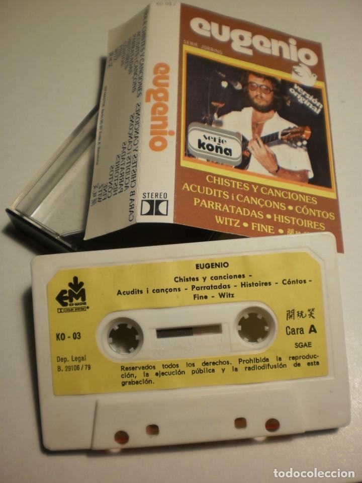 Casetes antiguos: cinta, casete, cassette. eugenio chistes y canciones em 1979 spain (estado normal) - Foto 3 - 193009845