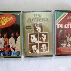Casetes antiguos: LOTE 3 CASSETTES THE PLATTERS. Lote 193628862