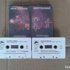 Casetes antiguos: HERTZAINAK - ZUZENEAN DOBLE CASSETTE 1991. Lote 194239986