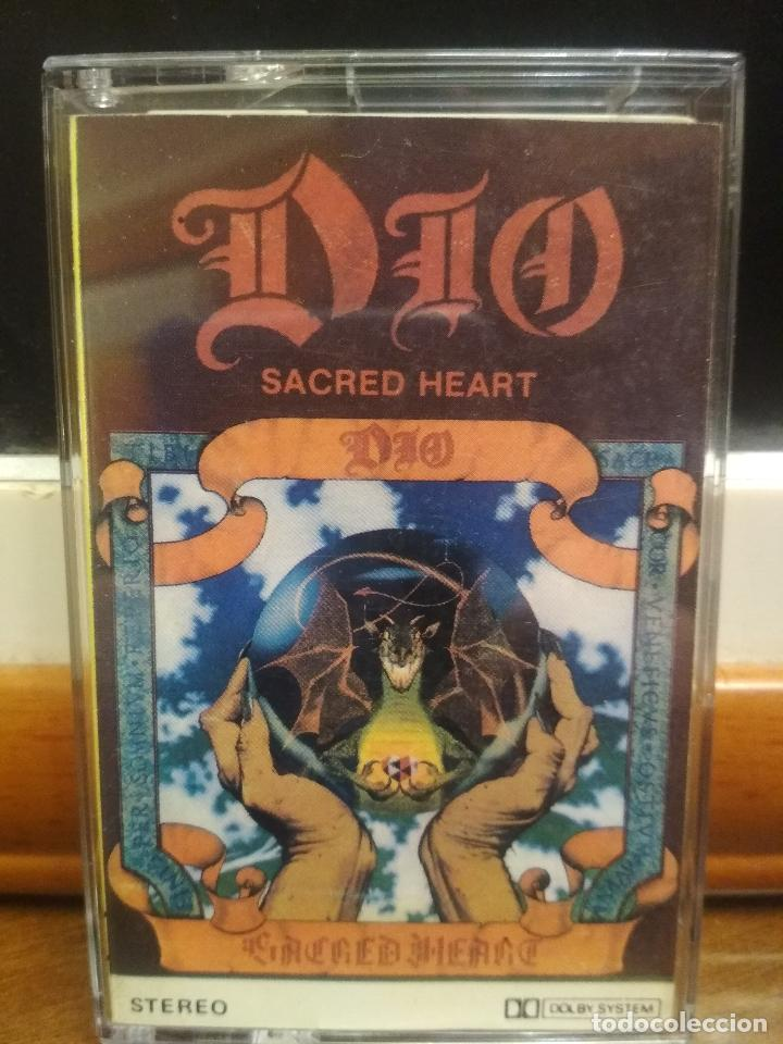 DIO-SACRED HEART-1985-KING OF ROCK AND ROLL,HUNGRY FOR HEAVEN,FALLEN ANGELS,SHOOT SHOOT (Música - Casetes)