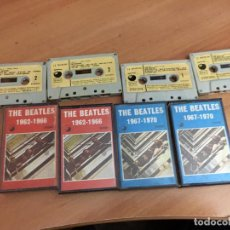 Casetes antiguos: THE BEATLES VOL 1 & 2 AZUL Y ROJO (CAI3). Lote 194560468