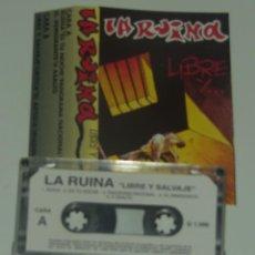 Casetes antiguos: LA RUINA - LIBRE Y SALVAJE - HARD ROCK - 1996 (CAJ-5). Lote 194593278