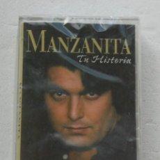 Casetes antiguos: CASSETTE MANZANITA TU HISTORIA Y OTROS GRANDES EXITOS 2001 PRECINTADO CASETE. Lote 194633520
