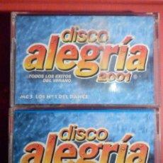 Casetes antiguos: CINTA DE CASSETTE - CASETE - DISCO ALEGRÍA 2001 - MC1 Y MC3 - TEMPO MUSIC 2001. Lote 194646238