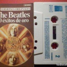 Casetes antiguos: CINTA DE CASSETTE - CASETE - THE BEATLES - 20 EXITOS DE ORO - EMI 1979. Lote 194646258