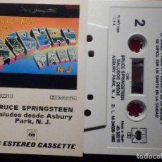 Casetes antiguos: CINTA DE CASSETTE - CASETE - BRUCE SPRINGSTEEN - SALUDOS DESDE ASBURY PARK, N. J. - CBS 1982. Lote 194646332