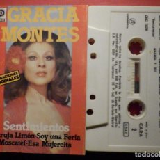 Casetes antiguos: CINTA DE CASSETTE - CASETE - GRACIA MONTES - SENTIMIENTOS - DISCOSA - COLUMBIA 1981. Lote 194687427