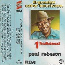 Casetes antiguos: PAUL ROBESON - EL GENUINO SABOR AMERICANO -PAUL ROBESON - 1 TRADICIONAL - RCA PK 42825 - 1979. Lote 194722803