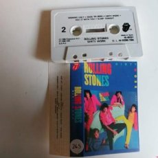Casetes antiguos: ROLLING STONES-CASSETTE DIRTY WORK. Lote 194758456