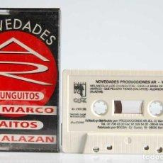 Casetes antiguos: NOVEDADES AR - LOS CHUNGUITOS. MARCO. CALAITOS. ALAZAN. CASETE. Lote 194860985