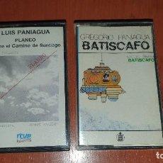 Casetes antiguos: LUIS Y GREGORIO PANIAGUA, PLANEO Y BATISCAFO, 2 CASETES BIEN CONSERVADOS. Lote 194885092
