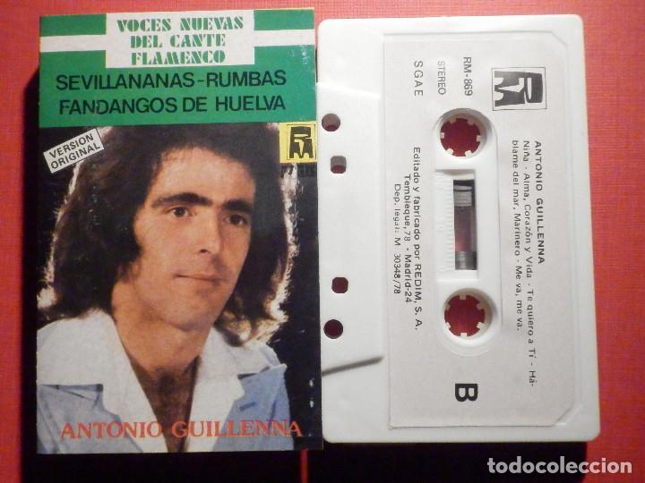 CINTA DE CASSETTE - ANTONIO GUILLENA - GUILLENNA -VOCES NUEVAS DEL CANTE FLAMENCO - REDIM 1978 (Música - Casetes)