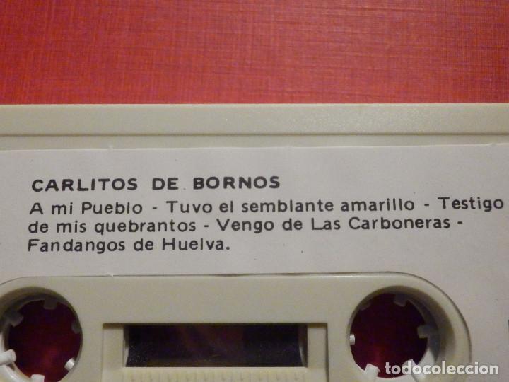 Casetes antiguos: Cinta de Cassette - Casete - CARLITOS DE BORNOS - REDIM 1981 - Sello raro - Foto 2 - 194907306