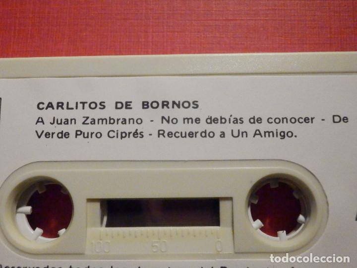 Casetes antiguos: Cinta de Cassette - Casete - CARLITOS DE BORNOS - REDIM 1981 - Sello raro - Foto 3 - 194907306