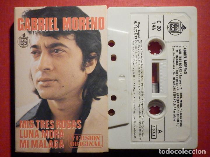 CINTA DE CASSETTE - CASETE - GABRIEL MORENO - HISPAVOX 1979 (Música - Casetes)