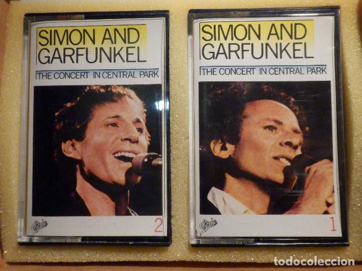 Casetes antiguos: Cinta de Cassette - Doble Casete - Simon & Garfunkel - The Concert in Central Park 1982 en estuche - Foto 2 - 194907376