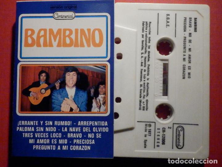 CINTA DE CASSETTE - CASETE - BAMBINO - CONTINENTAL 1977 (Música - Casetes)