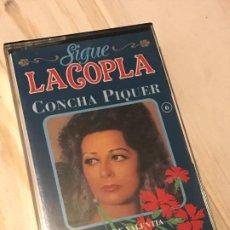 Casetes antiguos: MUSIC CASSETTE CONCHA PIQUER SIGUE LA COPLA (ROSA DE MADRID, ROMANCE DE VALENTIA...). Lote 194967483