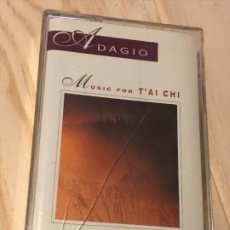 Casetes antiguos: MUSIC CASSETTE ADAGIO MUSICA PARA TAICHI (TAI CHI) PETER DAVISON.. Lote 194967753