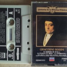 Casetes antiguos: GIOACCHINO ROSSINI EL BARBERO DE SEVILLA/LA ITALIANA EN ARGEL PLANETA/DECCA 1983. Lote 195081141