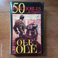 Casetes antiguos: ESTUCHE CON 4 CASETES 50 PASODOBLES DE ESPAÑA. OLÉ Y OLÉ. Lote 195185870