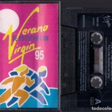Casetes antiguos: VERANO VIRGIN : SANDRA ROLLING STONES GARY MOORE SIMPLE MINDS ETC - CASSETTE PROMOCIONAL 1995 VIRGIN. Lote 195210431