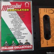Casetes antiguos: MUY DIFICIL!! MUSSOLINI COMPILATION. ITALY. EXCELENTE ESTADO.. Lote 195210843