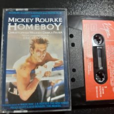Casetes antiguos: MUY DIFICIL. MICKEY ROURKE. HOMEBOY. VIRGIN.ERIC CLAPTON. 1988. SPAIN. Lote 195211703