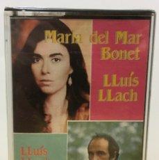 Casetes antiguos: CINTA CASETE K7 CASSETTE - MARIA DEL MAR BONET - LLUÍS LLACH. ARIOLA, 1983. PRECINTADO. Lote 195450503