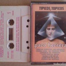 Casetes antiguos: PACO HERRERA TIPICOS TOPICOS PERFIL 1986 CON ICEBERG. Lote 195493817