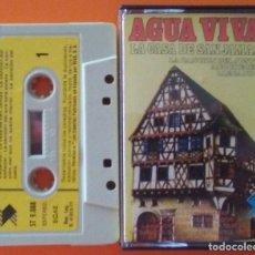 Casetes antiguos: AGUAVIVA LA CASA DE SAN JAMAS CASETTE 1977. Lote 195535678
