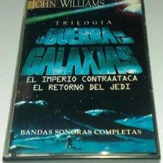 Casetes antiguos: 'TRILOGÍA LA GUERRA DE LAS GALAXIAS', DE JOHN WILLIAMS. 8 TEMAS EDITADO POR HORUS EN 1997 COMO NUEVA. Lote 195751481