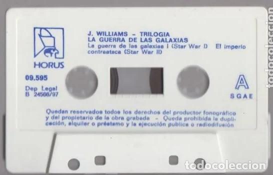 Casetes antiguos: Trilogía La Guerra de las Galaxias, de John Williams. 8 temas Editado por Horus en 1997 Como nueva - Foto 3 - 195751481
