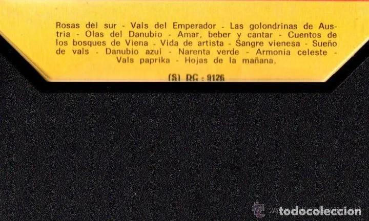Casetes antiguos: Los más bellos valses de Viena, de J. Strauss. 14 temas. Discophon. 1973. Buen estado. - Foto 2 - 195755577