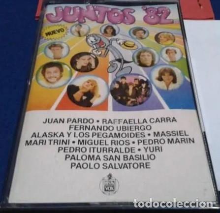 'JUNTOS 82' ALASKA Y PEGAMOIDES, MASSIEL, MIGUEL RIOS, YURI, JUAN PARDO, ETC. 12 TEMAS HISPAVOX 1973 (Música - Casetes)