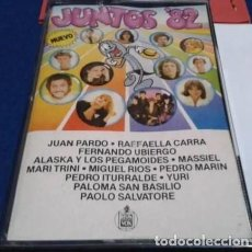Casetes antiguos: 'JUNTOS 82' ALASKA Y PEGAMOIDES, MASSIEL, MIGUEL RIOS, YURI, JUAN PARDO, ETC. 12 TEMAS HISPAVOX 1973. Lote 195757491